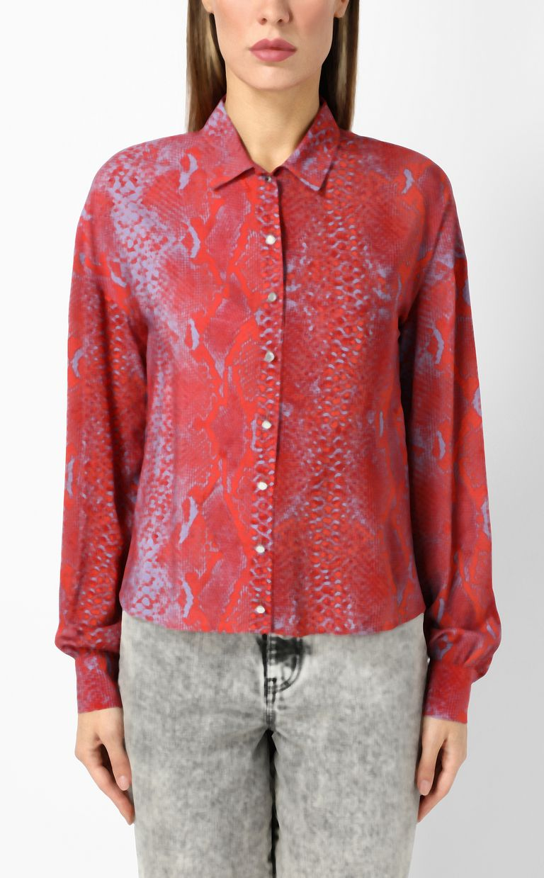 JUST CAVALLI Python-print blouse Long sleeve shirt Woman r