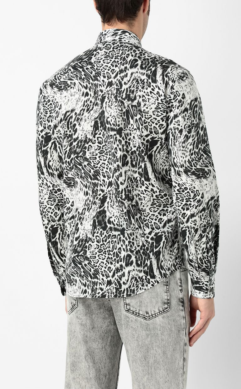 "JUST CAVALLI Shirt with ""Rave"" pattern Long sleeve shirt Man a"