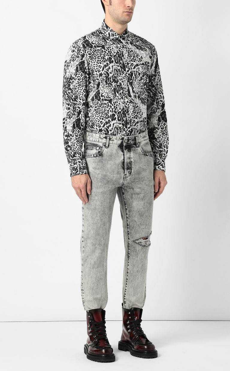 "JUST CAVALLI Shirt with ""Rave"" pattern Long sleeve shirt Man d"