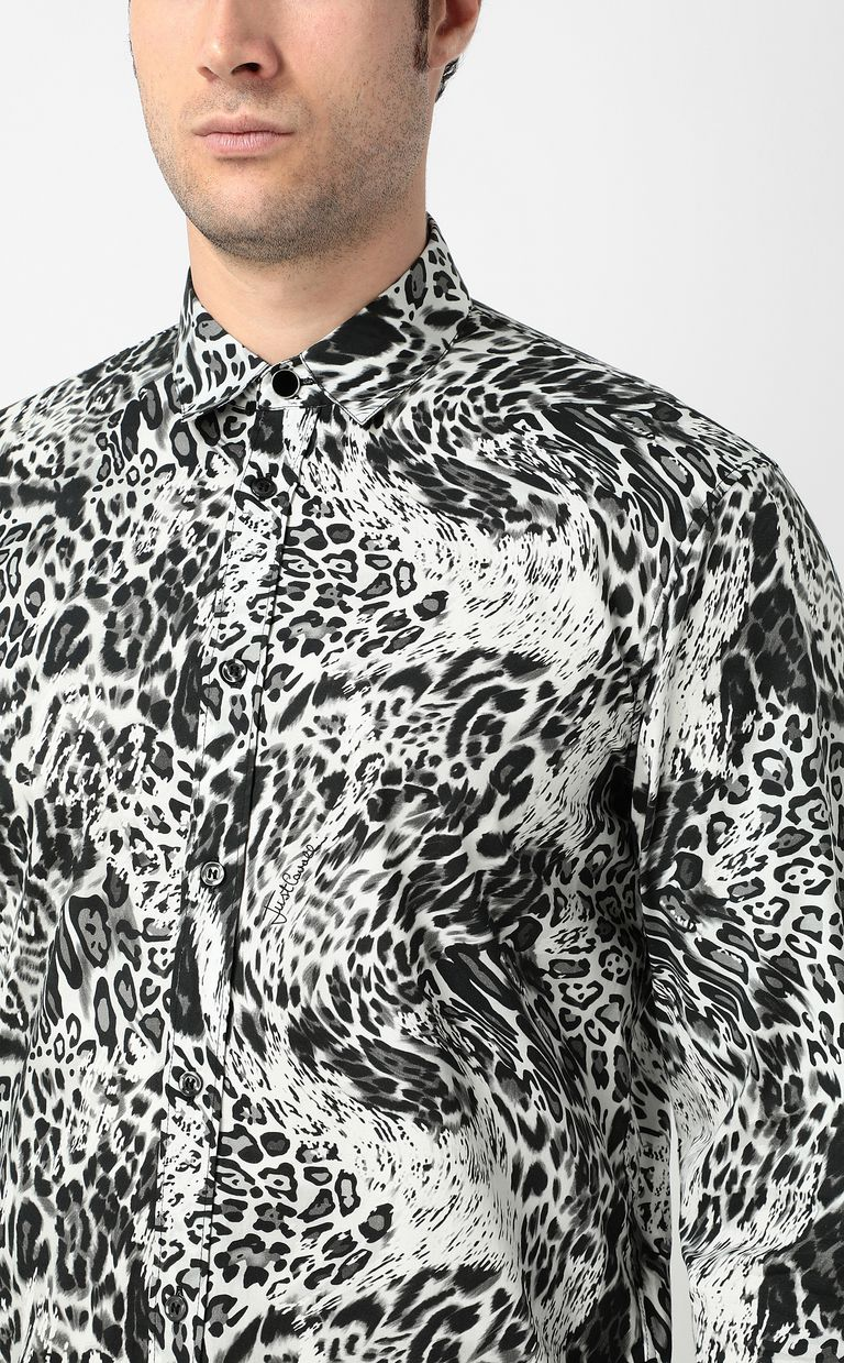 "JUST CAVALLI Shirt with ""Rave"" pattern Long sleeve shirt Man e"