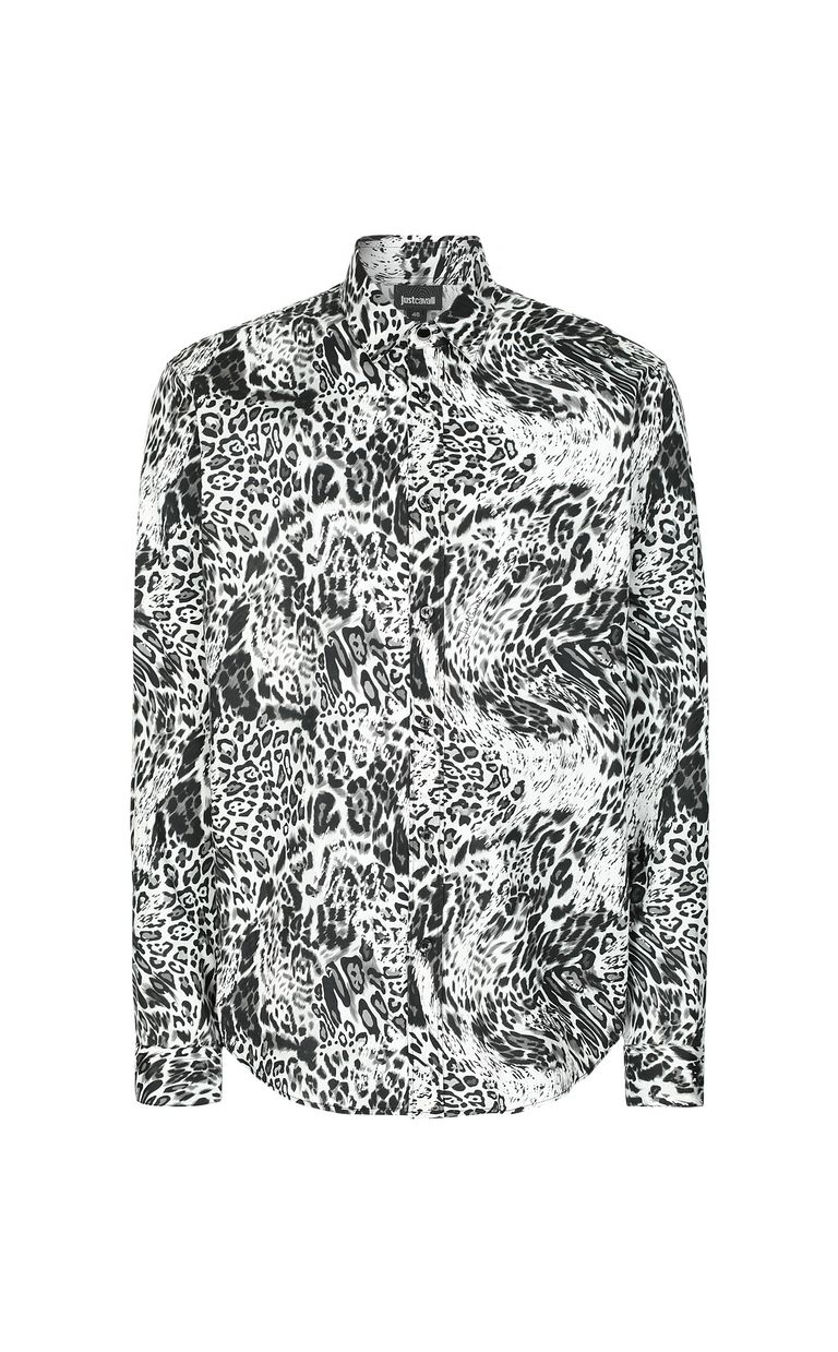 "JUST CAVALLI Shirt with ""Rave"" pattern Long sleeve shirt Man f"