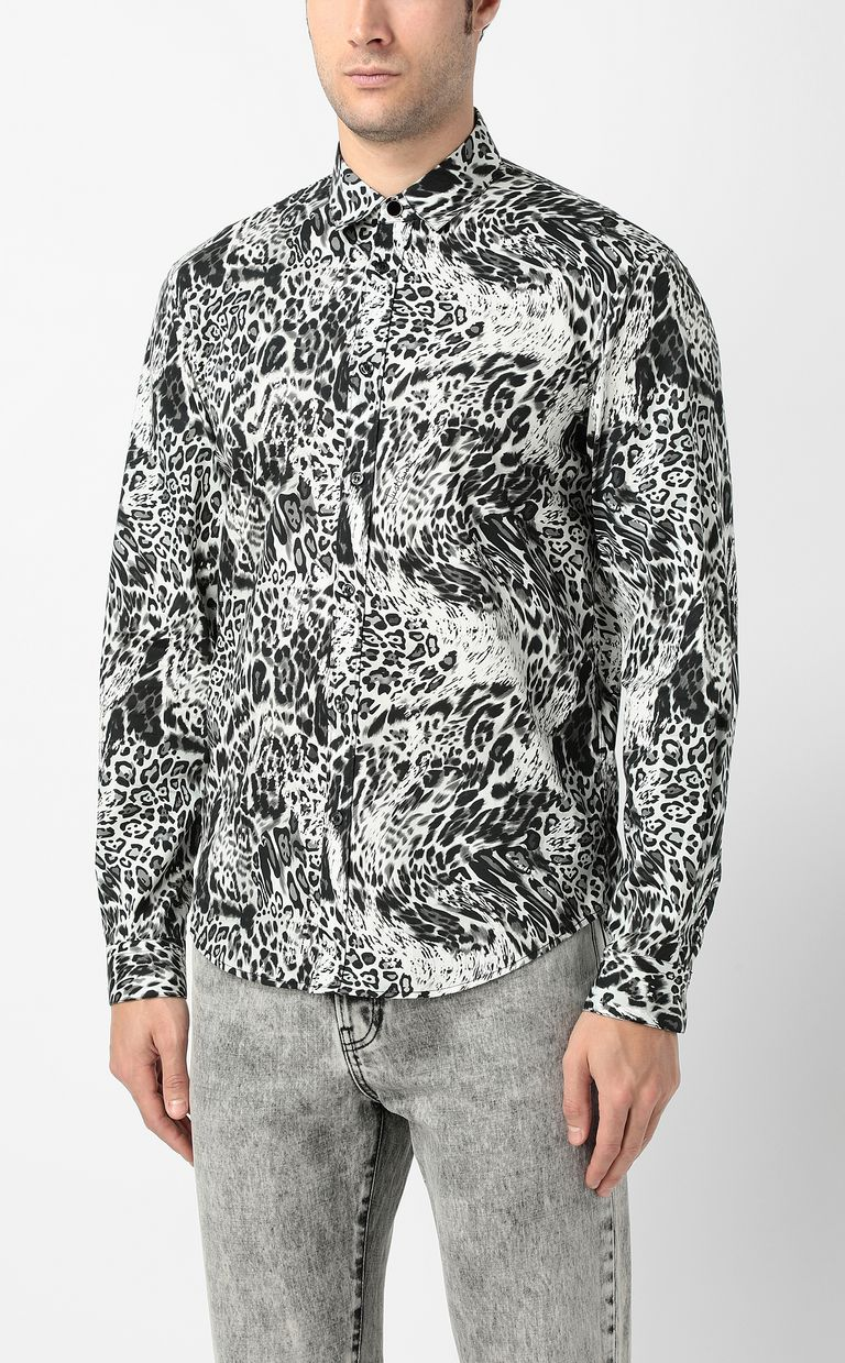 "JUST CAVALLI Shirt with ""Rave"" pattern Long sleeve shirt Man r"