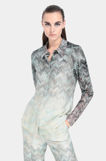 MISSONI Shirt Turquoise Woman - Front