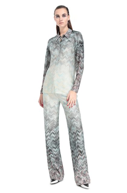 MISSONI Shirt Turquoise Woman - Back