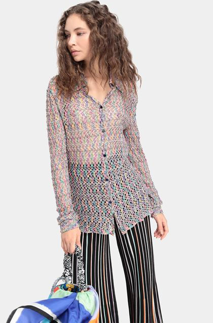 MISSONI Shirt Purple Woman - Front