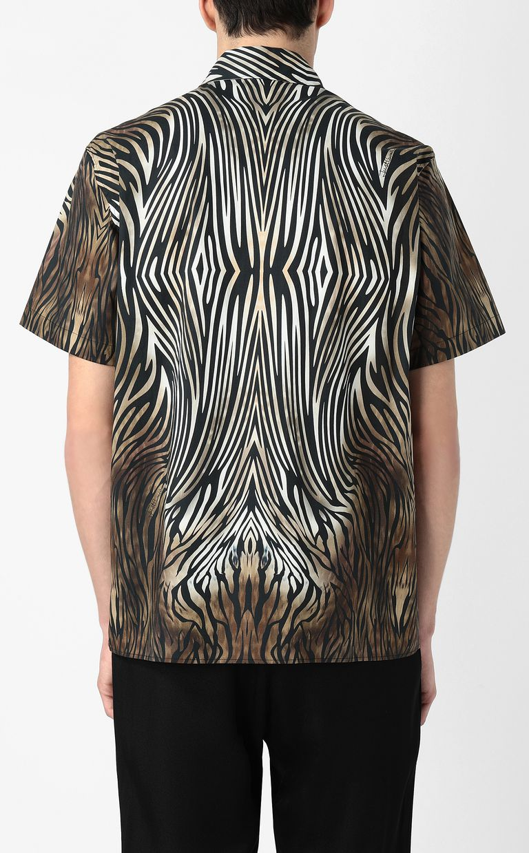 "JUST CAVALLI Shirt with ""Symbiosis"" pattern Short sleeve shirt Man a"