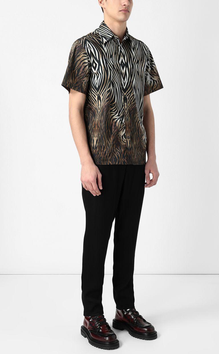 "JUST CAVALLI Shirt with ""Symbiosis"" pattern Short sleeve shirt Man d"