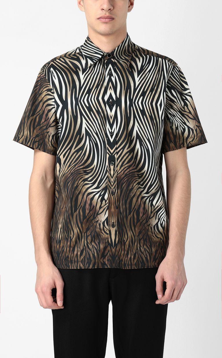 "JUST CAVALLI Shirt with ""Symbiosis"" pattern Short sleeve shirt Man r"