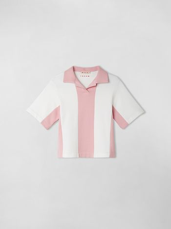 Marni COTTON FLEECE COLOR-BLOCK POLO Woman f
