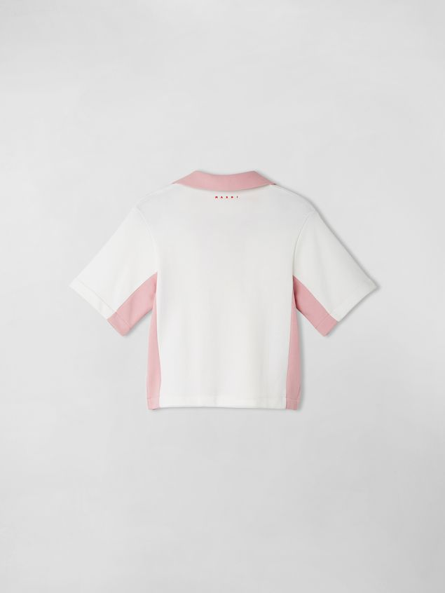 Marni COTTON FLEECE COLOR BLOCK POLO Woman - 2