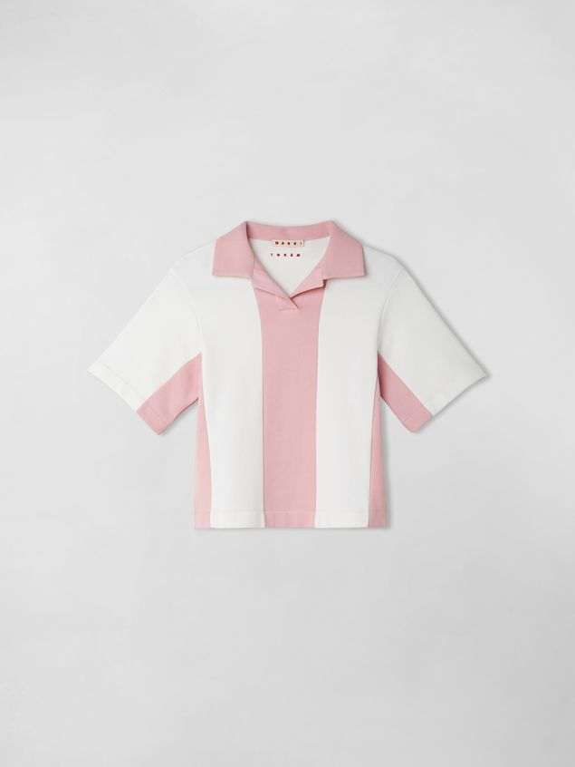 Marni COTTON FLEECE COLOR BLOCK POLO Woman - 1