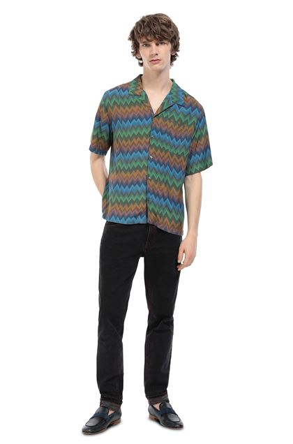 MISSONI Shirt Blue Man - Front