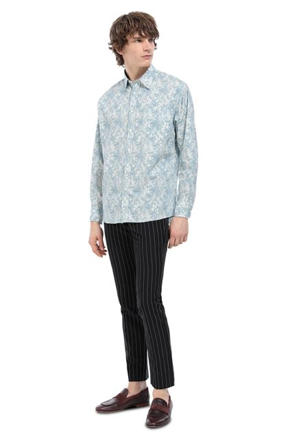 MISSONI Shirt Sky blue Man - Front