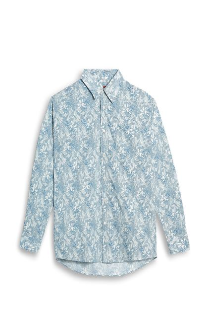 MISSONI Shirt Sky blue Man - Back