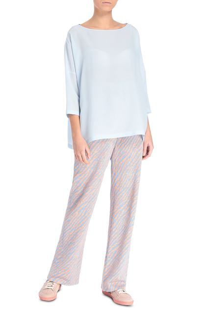 M MISSONI Blouse Sky blue Woman - Back