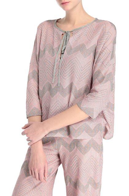 M MISSONI Blouse Pastel pink Woman - Front