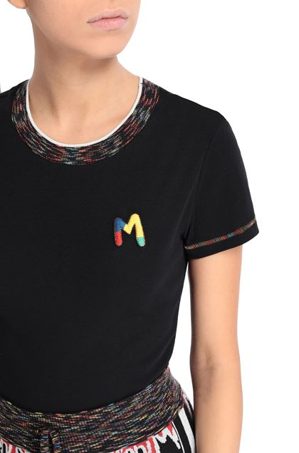 M MISSONI T-shirt Black Woman - Front