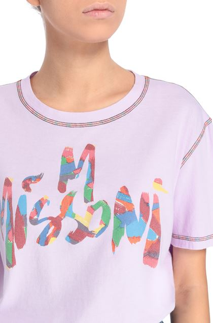M MISSONI T-shirt Lilac Woman - Front