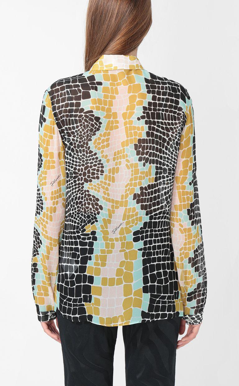 JUST CAVALLI Crocodile-print shirt Long sleeve shirt Woman a