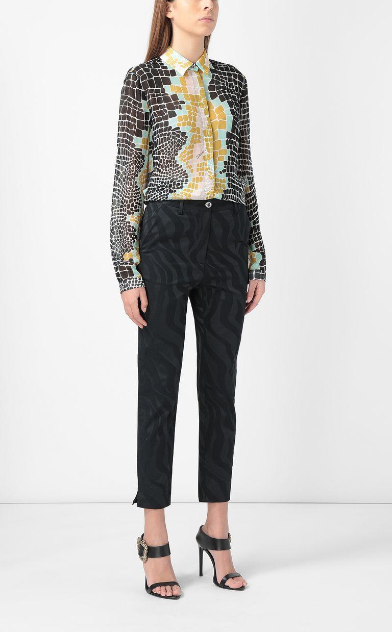 JUST CAVALLI Crocodile-print shirt Long sleeve shirt Woman d
