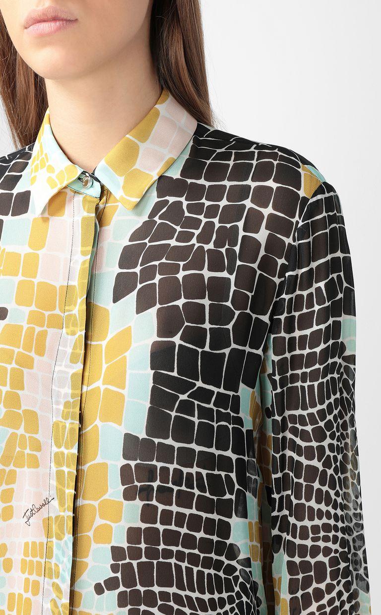 JUST CAVALLI Crocodile-print shirt Long sleeve shirt Woman e