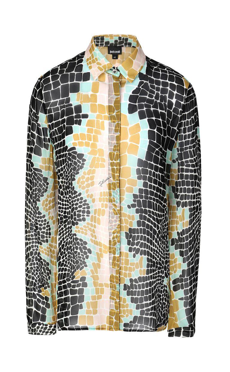 JUST CAVALLI Crocodile-print shirt Long sleeve shirt Woman f