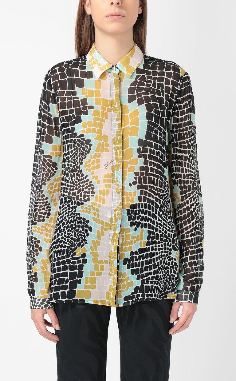 JUST CAVALLI Crocodile-print shirt Long sleeve shirt Woman r