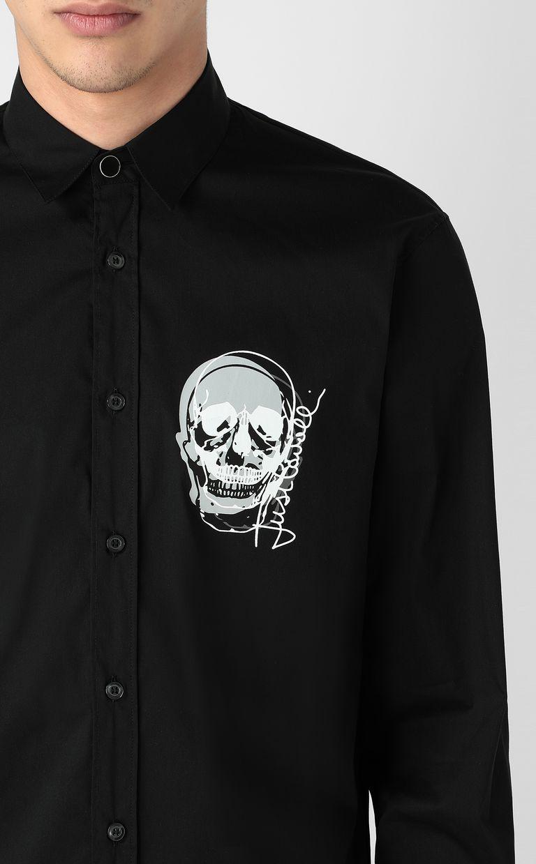 JUST CAVALLI Shirt with skull detail Long sleeve shirt Man e