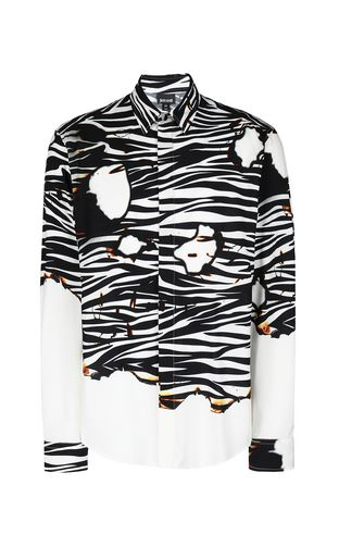 JUST CAVALLI Long sleeve shirt Man Leopard-spot-print shirt f