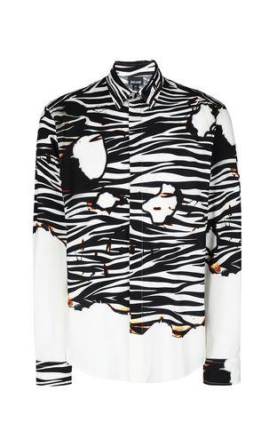 JUST CAVALLI Long sleeve shirt Man Crocodile-skin-effect shirt f