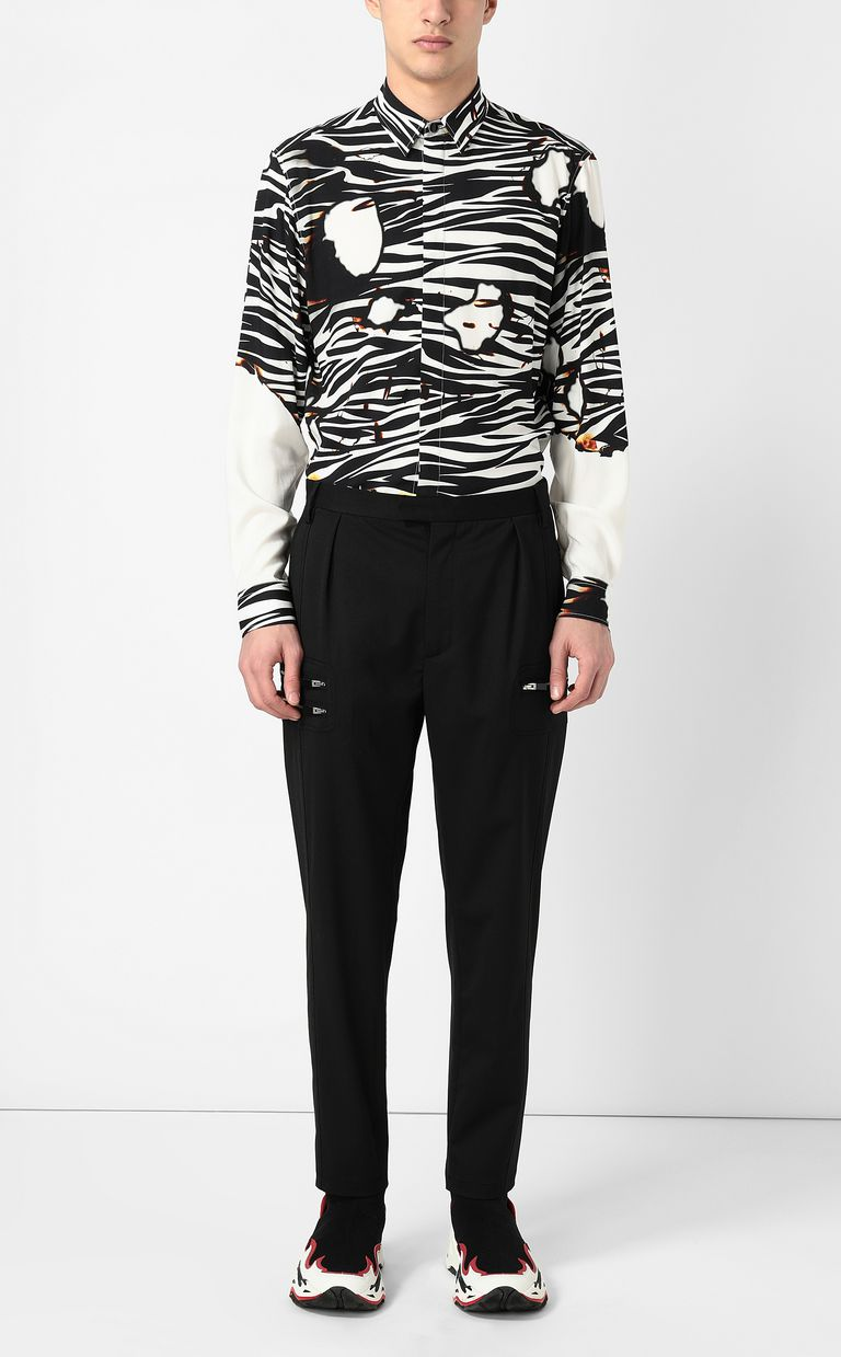 "JUST CAVALLI ""Burning Zebra""-print shirt Long sleeve shirt Man d"
