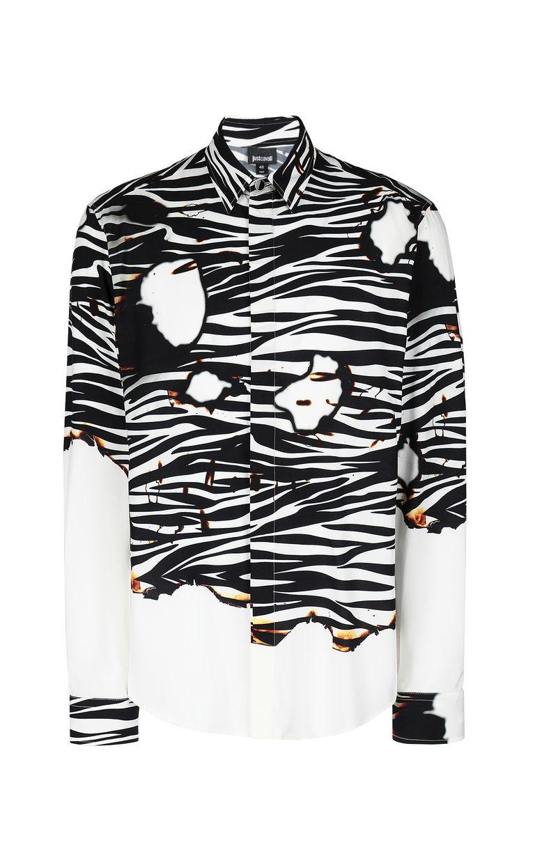 "JUST CAVALLI ""Burning Zebra""-print shirt Long sleeve shirt Man f"
