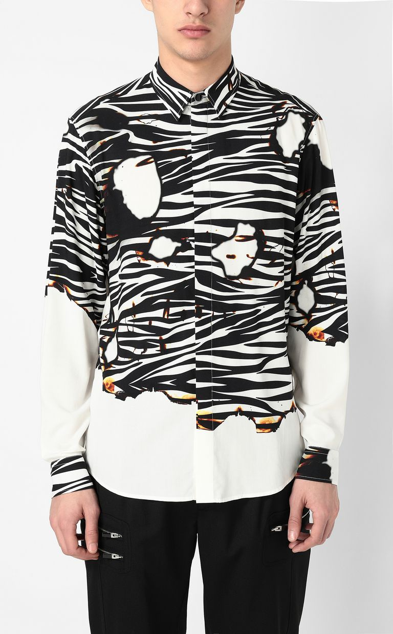 "JUST CAVALLI ""Burning Zebra""-print shirt Long sleeve shirt Man r"