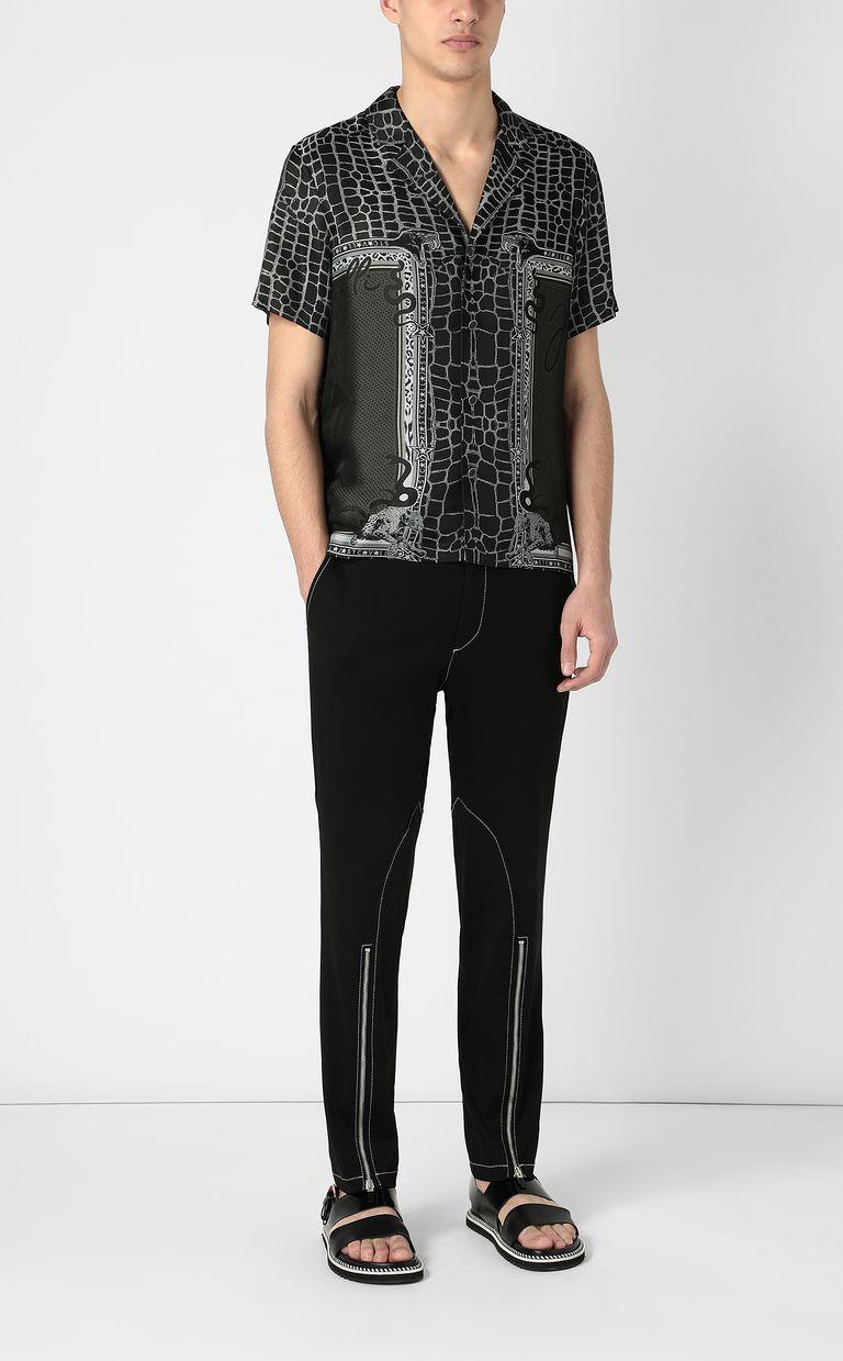 "JUST CAVALLI ""Engraved Crocco""-print shirt Short sleeve shirt Man d"