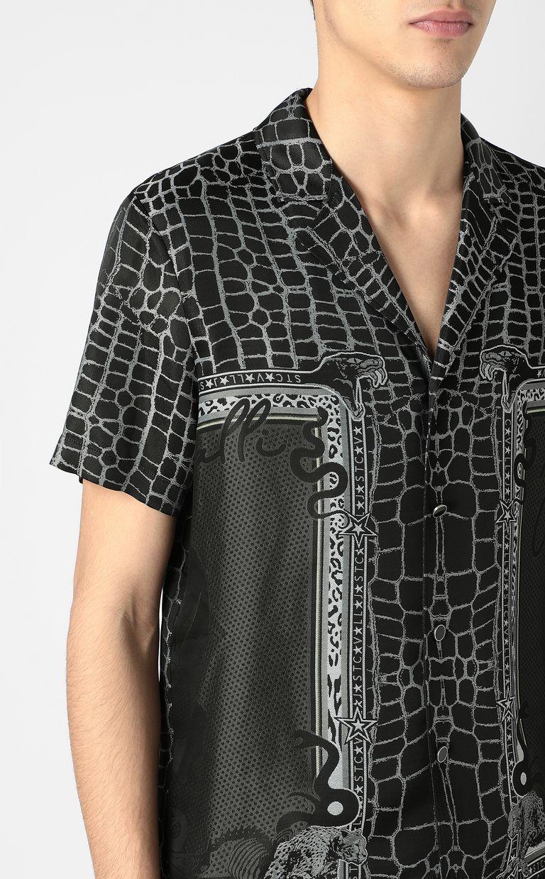 "JUST CAVALLI ""Engraved Crocco""-print shirt Short sleeve shirt Man e"