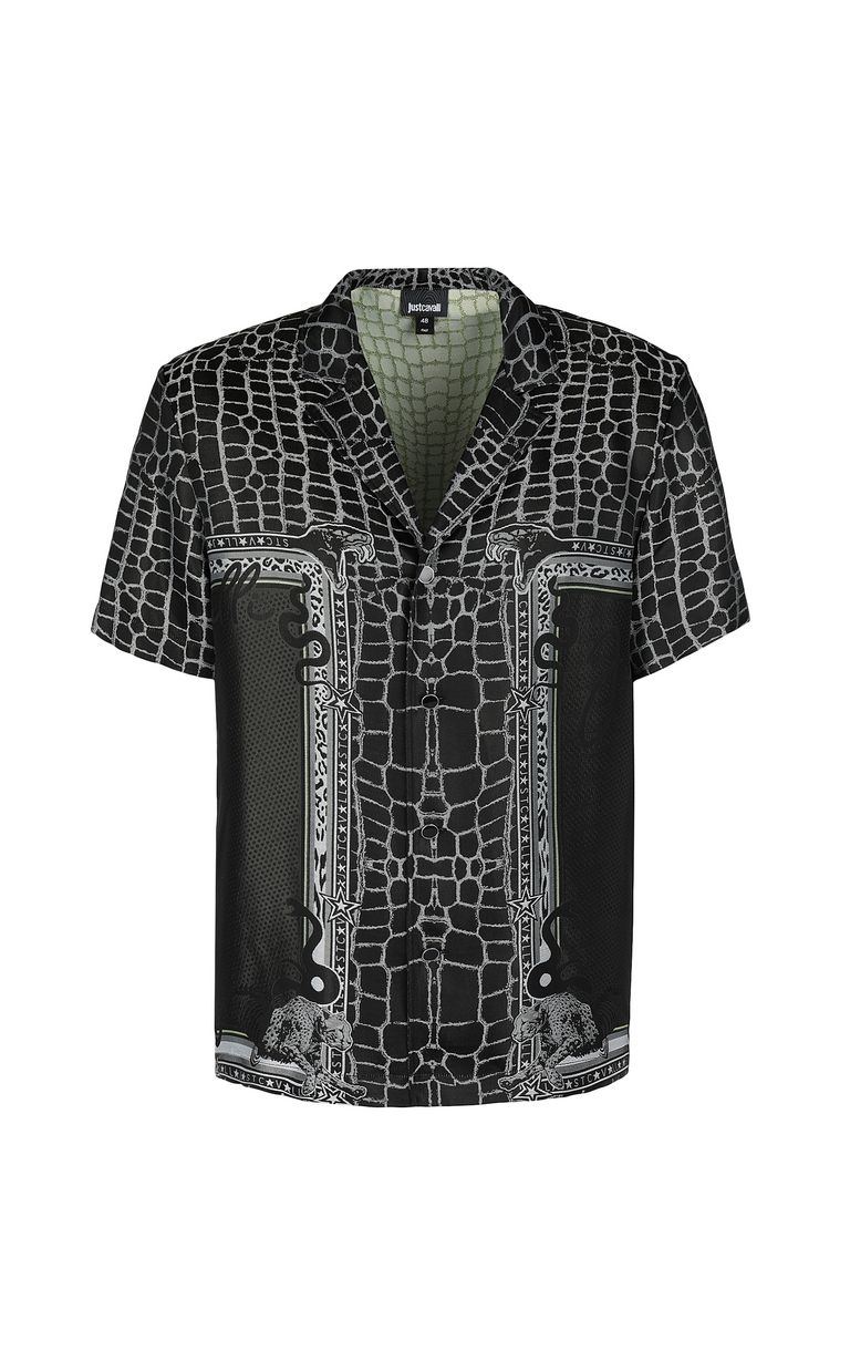 "JUST CAVALLI ""Engraved Crocco""-print shirt Short sleeve shirt Man f"
