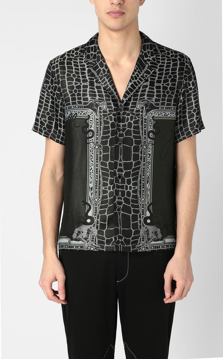 "JUST CAVALLI ""Engraved Crocco""-print shirt Short sleeve shirt Man r"