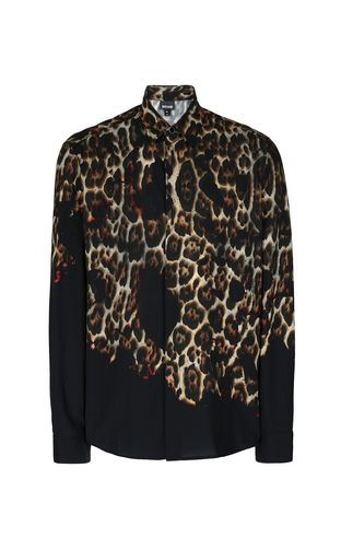"JUST CAVALLI Long sleeve shirt Man ""Burning Leo""-print shirt f"