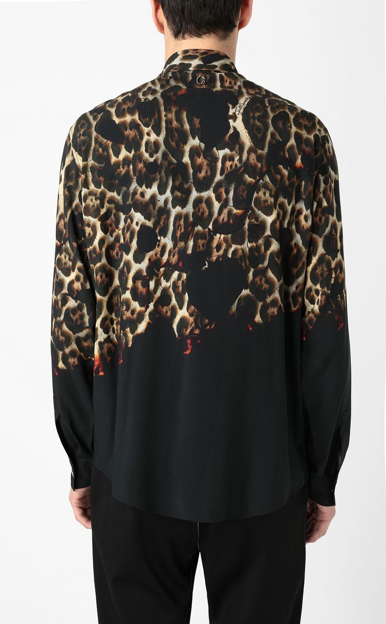 "JUST CAVALLI ""Burning Leo""-print shirt Long sleeve shirt Man a"
