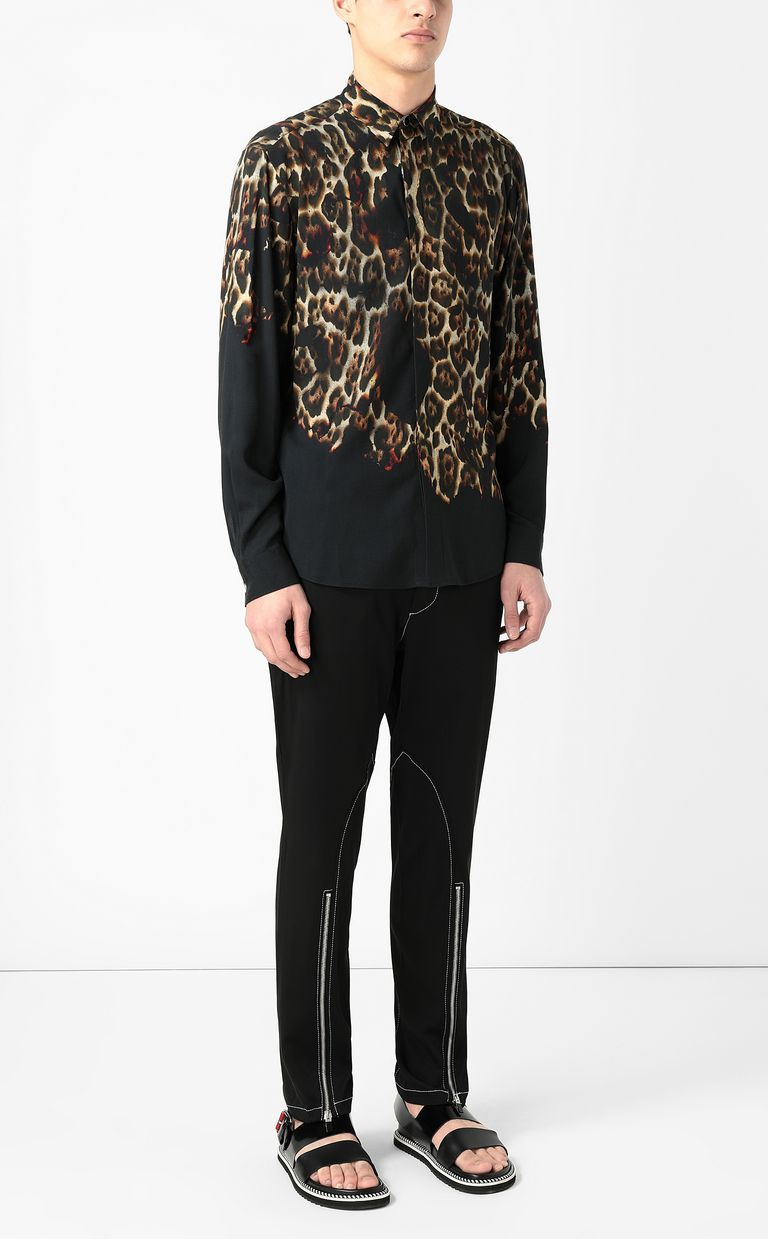 "JUST CAVALLI ""Burning Leo""-print shirt Long sleeve shirt Man d"