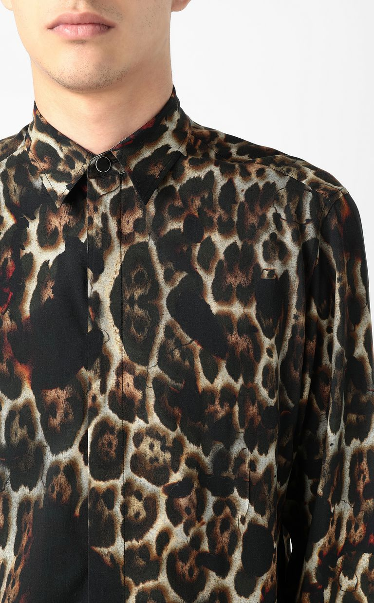 "JUST CAVALLI ""Burning Leo""-print shirt Long sleeve shirt Man e"