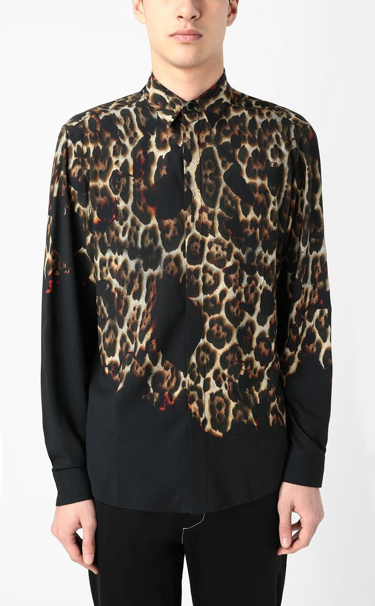 "JUST CAVALLI ""Burning Leo""-print shirt Long sleeve shirt Man r"