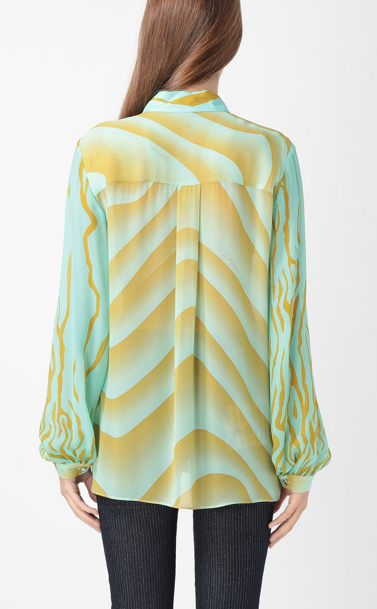 "JUST CAVALLI Shirt with ""Sand"" print Long sleeve shirt Woman a"