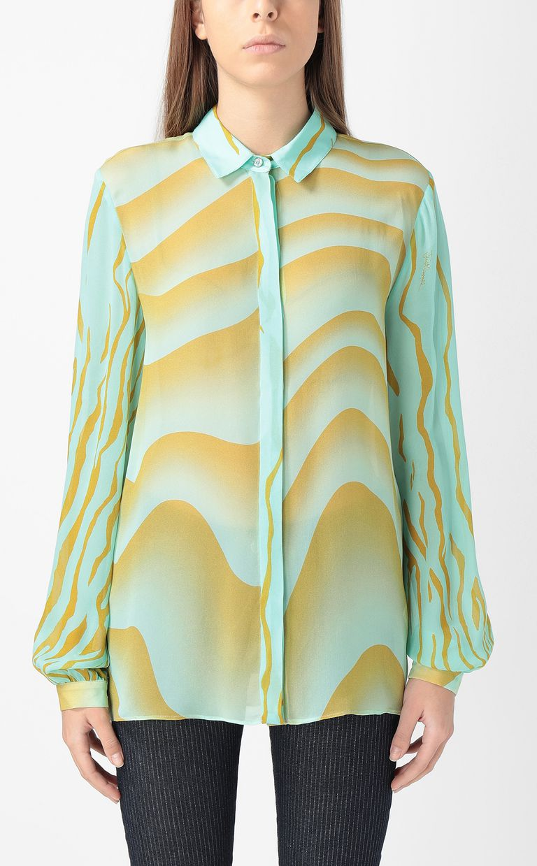 "JUST CAVALLI Shirt with ""Sand"" print Long sleeve shirt Woman r"