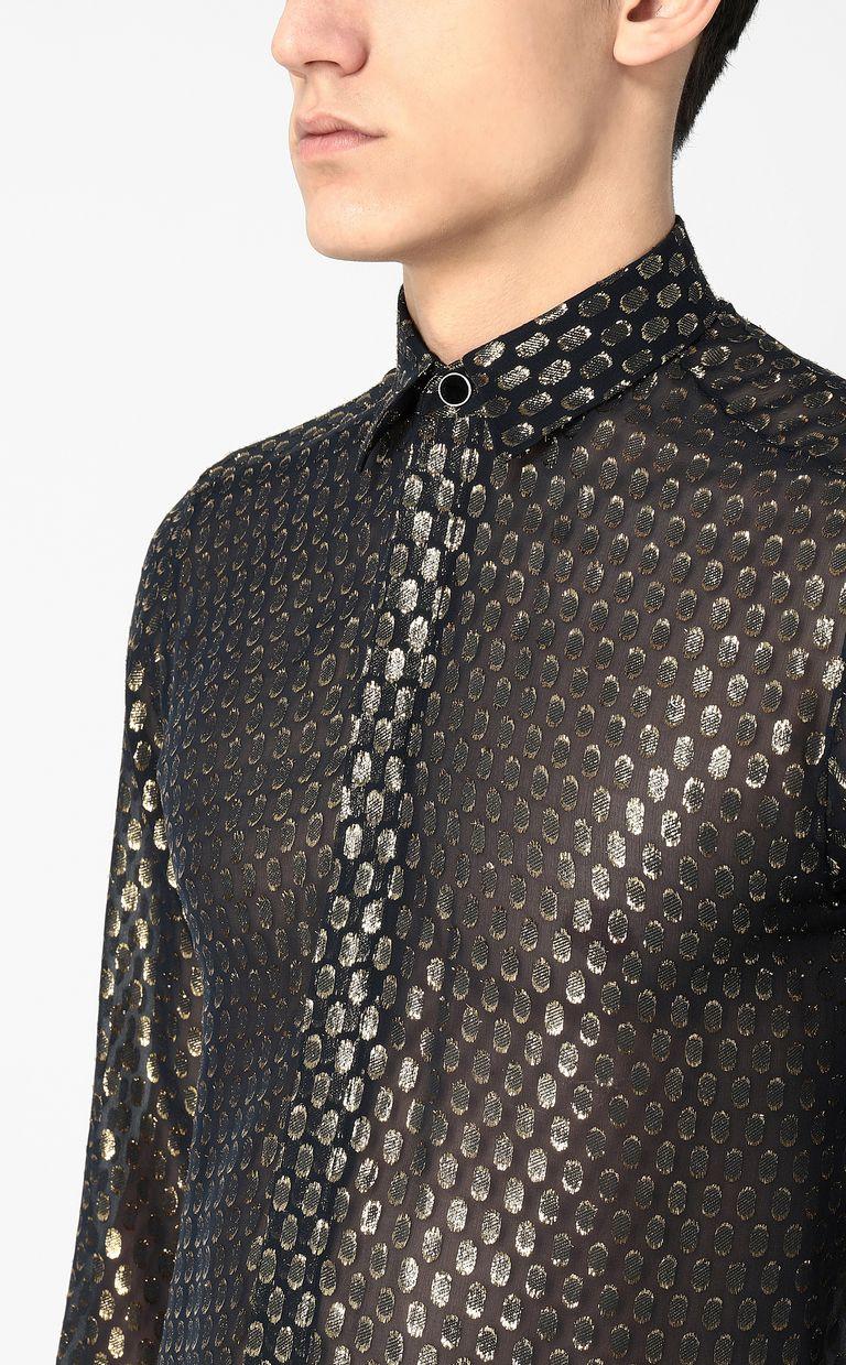JUST CAVALLI Gilt animal-print shirt Long sleeve shirt Man e