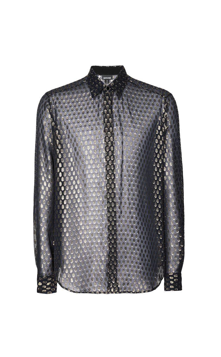 JUST CAVALLI Gilt animal-print shirt Long sleeve shirt Man f