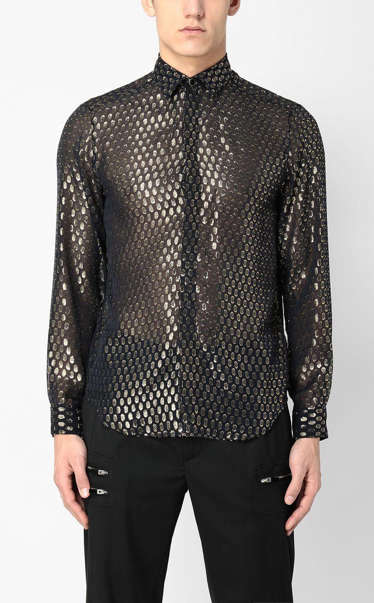 JUST CAVALLI Gilt animal-print shirt Long sleeve shirt Man r