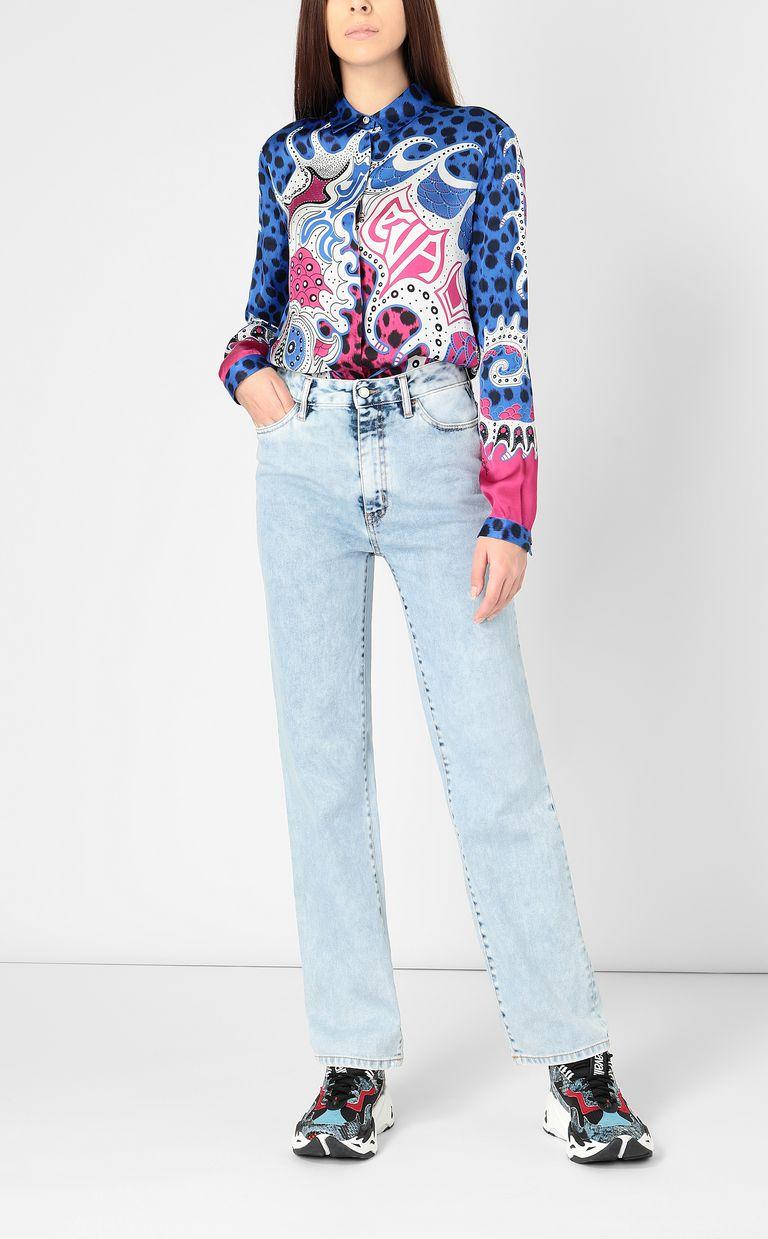 """JUST CAVALLI Shirt with """"Underworld"""" print Long sleeve shirt Woman d"""