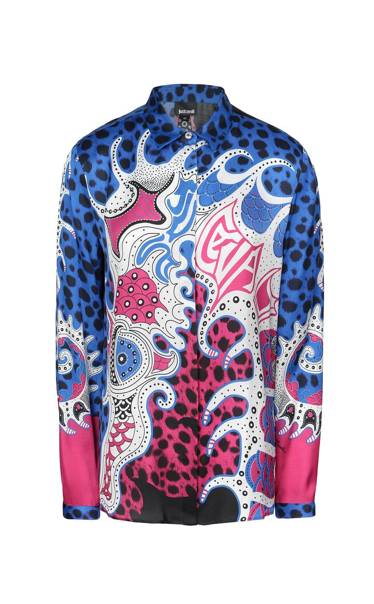 "JUST CAVALLI Shirt with ""Underworld"" print Long sleeve shirt Woman f"