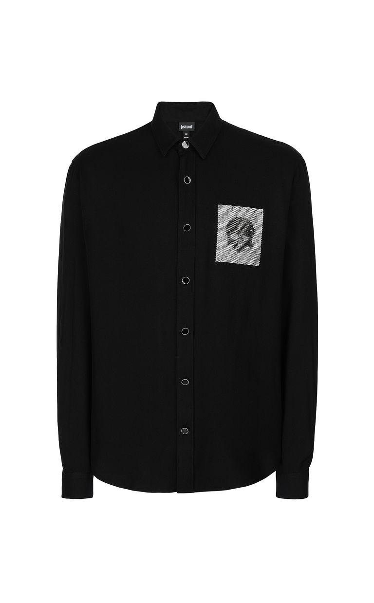 JUST CAVALLI Shirt with skull detail Long sleeve shirt Man f